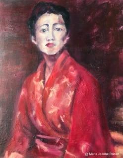 Femme au kimono